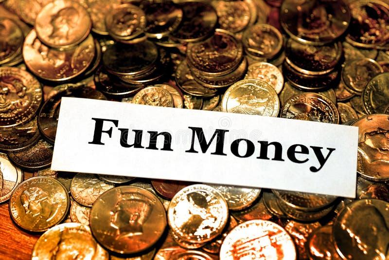 Куча потехи выхода на пенсию денег монеток инвестирует ИРА коллежа сбережений стоковое фото