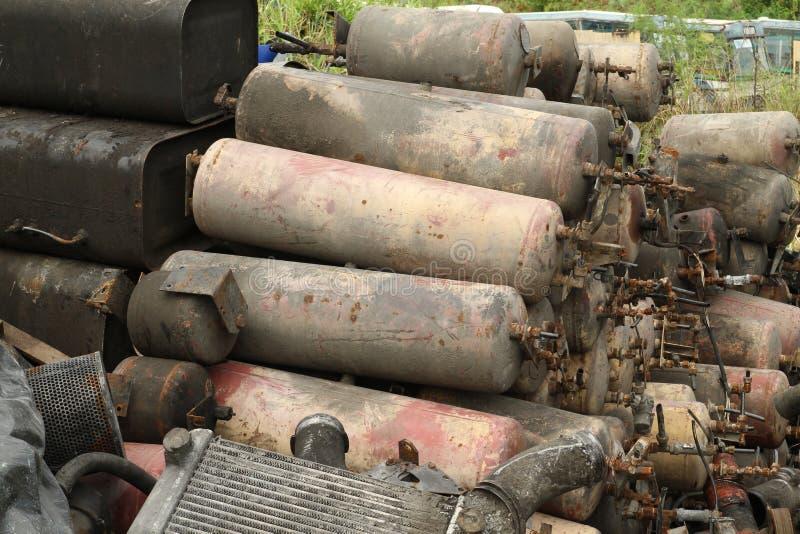 Куча танка воздуха стоковые фото