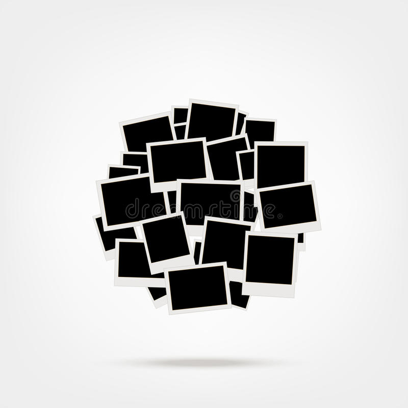 Куча фото, вводит ваши изображения в рамки бесплатная иллюстрация