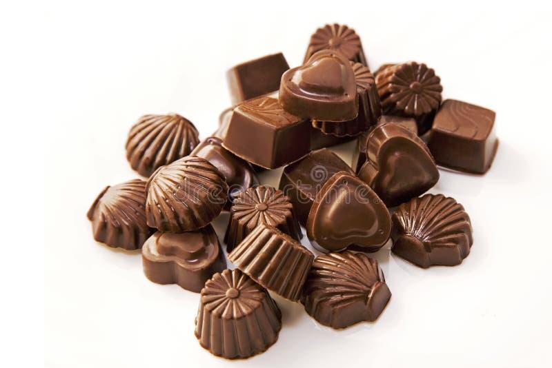 Куча шоколада стоковая фотография rf