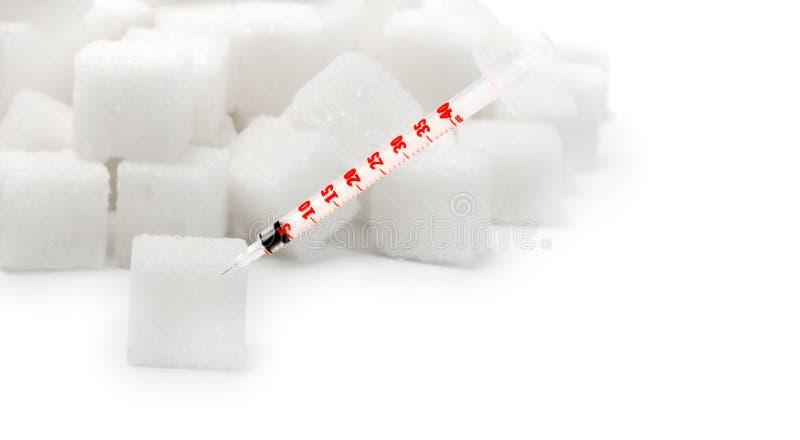 куча шприцев впрыски инсулина сахара стоковая фотография rf