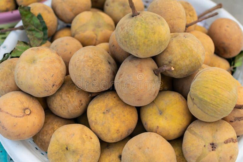 Куча Santol или плода хлопка стоковое фото