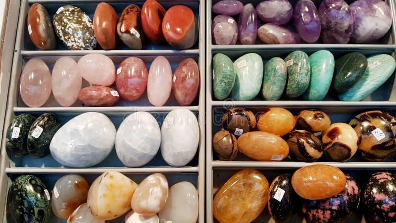 Куча semi драгоценных камней стоковые изображения rf