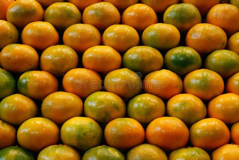 Куча tangerines стоковые фотографии rf