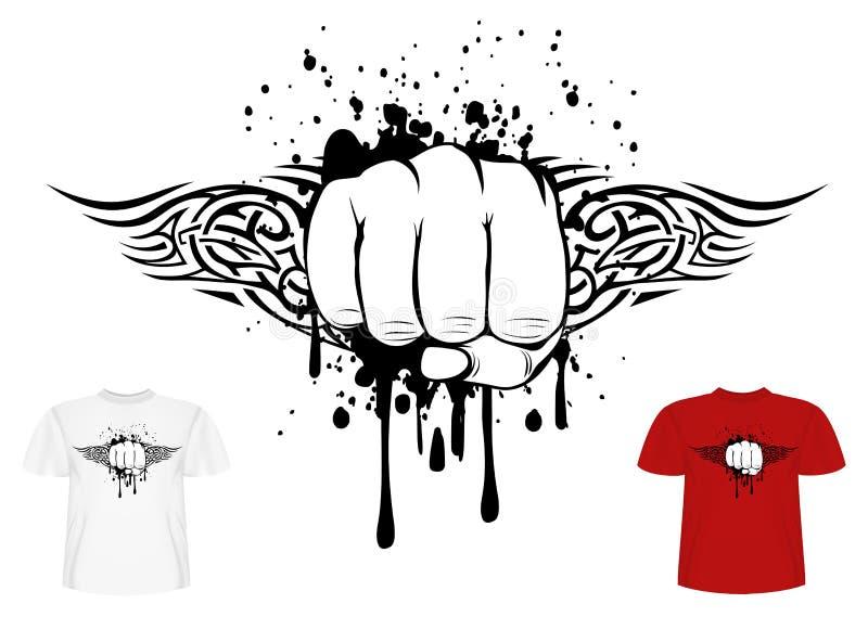Кулак и tribals иллюстрация штока