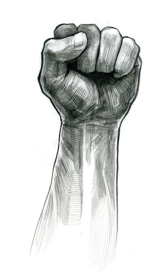 Картинка кулак карандашом