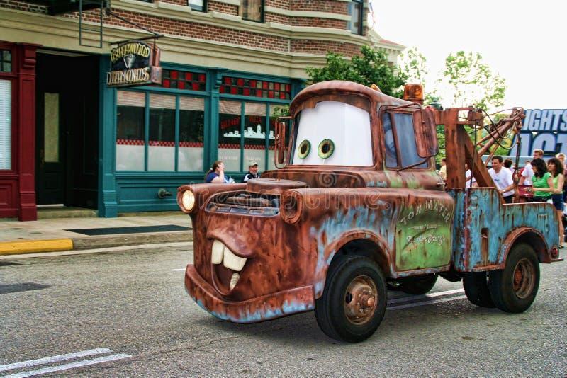 Кудель Mater - автомобили Дисней Pixar стоковые изображения rf