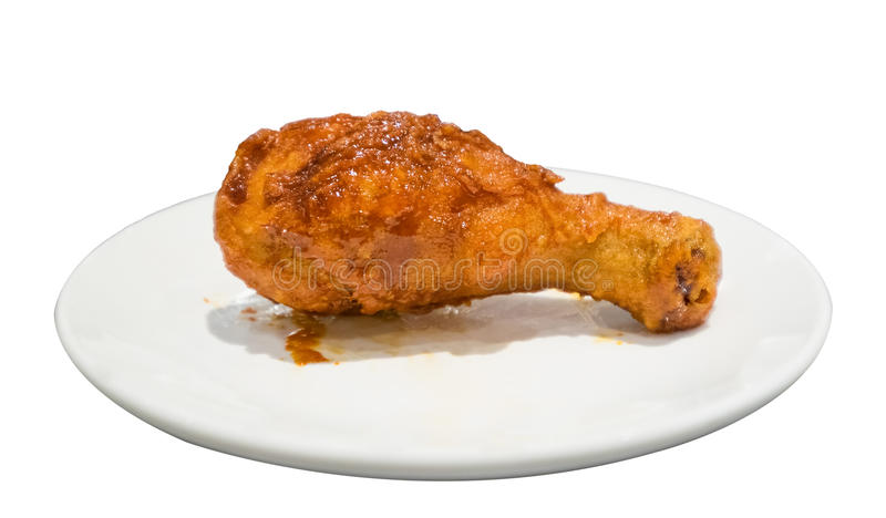 Кудрявое drumstick цыпленка зажаренное стоковое фото rf