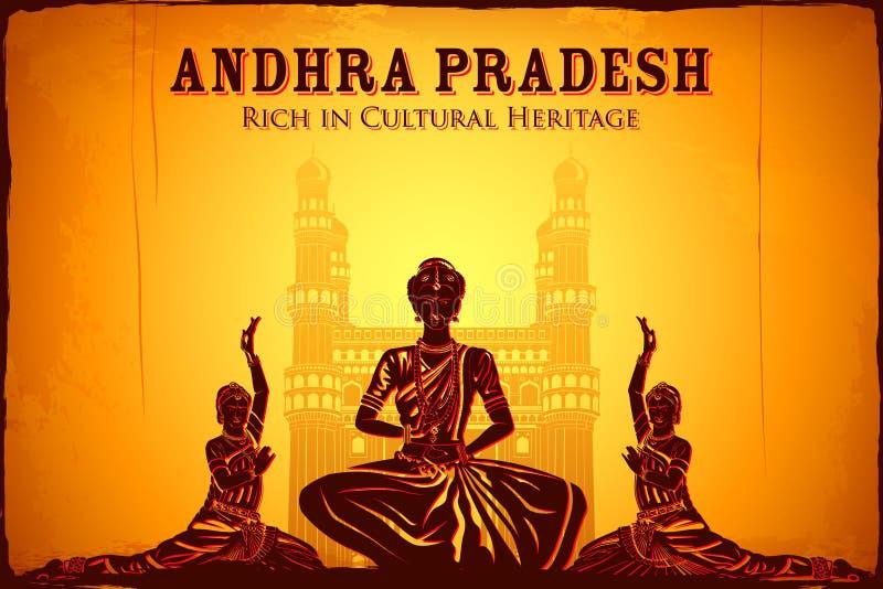 Культура Андхра-Прадеш иллюстрация штока