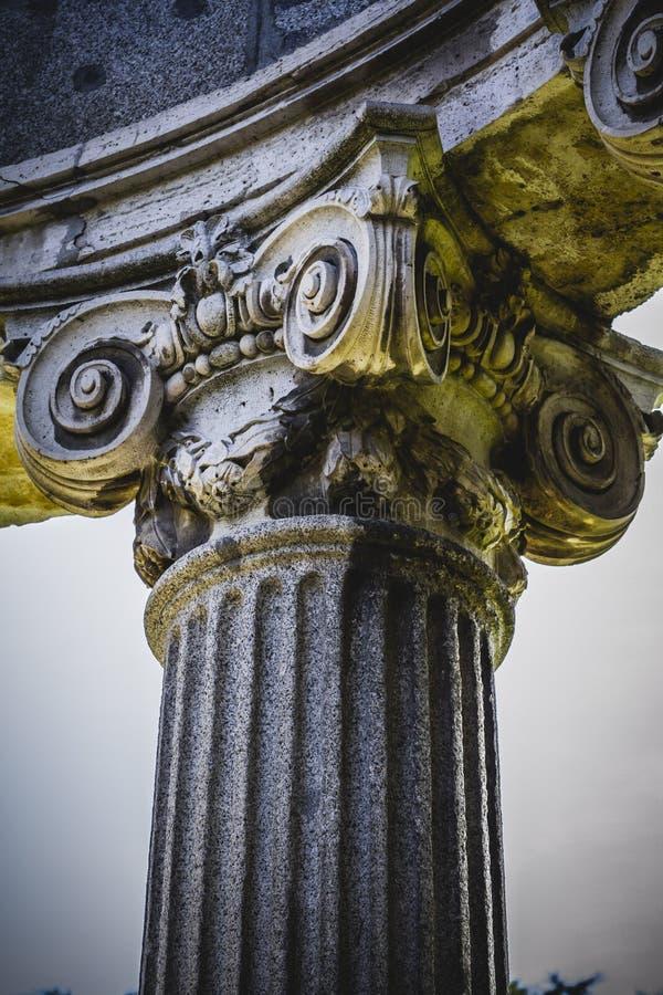 Культура, столбцы Греческ-стиля, коринфские столицы в парке стоковые изображения