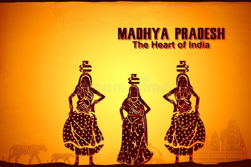 Культура Madhya Pradesh иллюстрация вектора