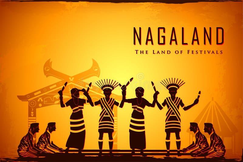 Культура Nagaland бесплатная иллюстрация