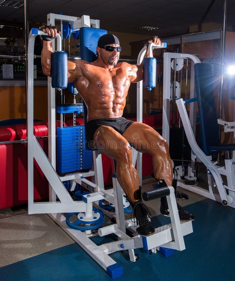Культурист спортсмена красивый стоковое фото rf