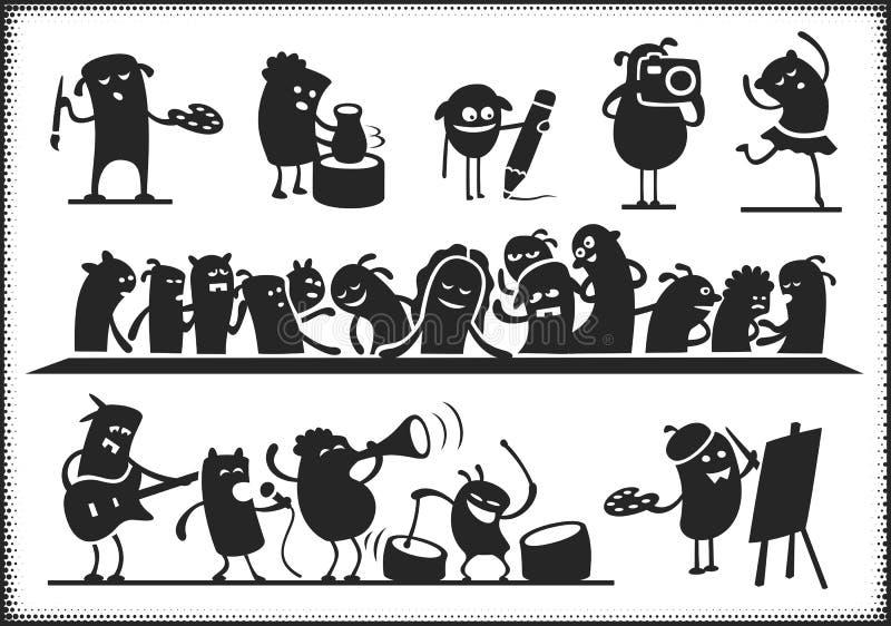 Культурные характеры бесплатная иллюстрация