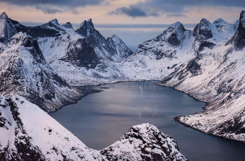 Кьерк-фьорден стоковая фотография rf