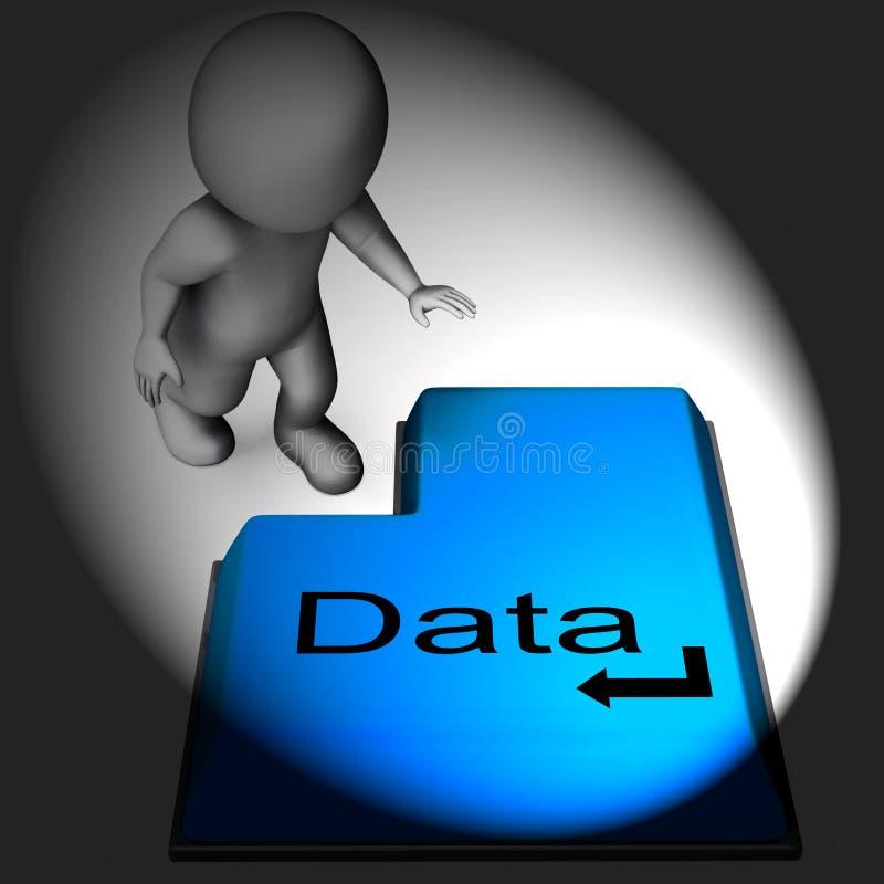 Клавиатура данных значит данные по и файлы компьютера иллюстрация штока
