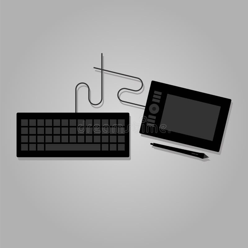 Клавиатура и графическая таблетка бесплатная иллюстрация