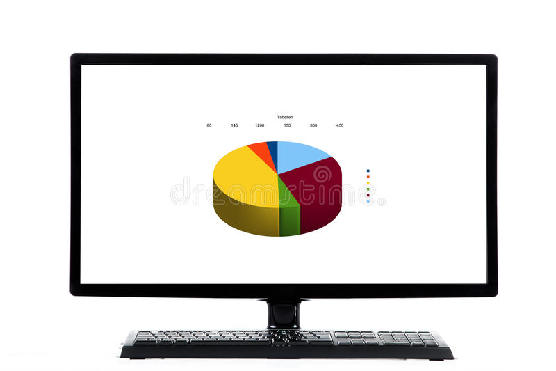 Клавиатура и монитор ПК иллюстрация вектора