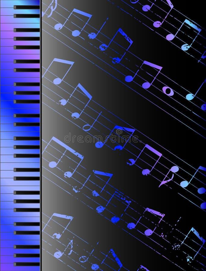 Клавиатура и примечания иллюстрация штока