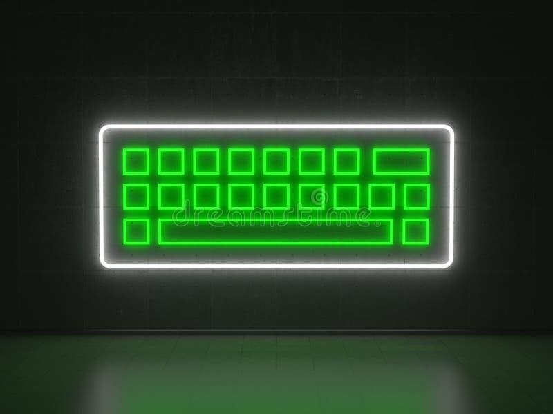 Клавиатура - неоновые вывески серии иллюстрация вектора