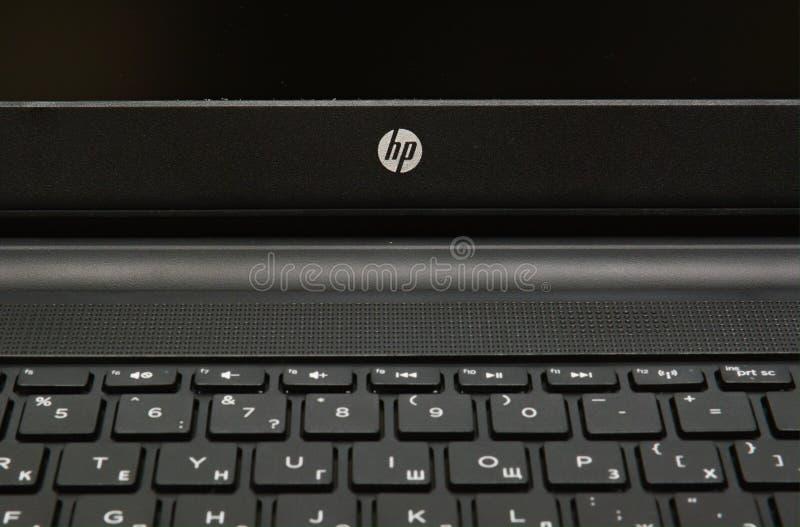 Клавиатура портативного компьютера HP стоковые фотографии rf