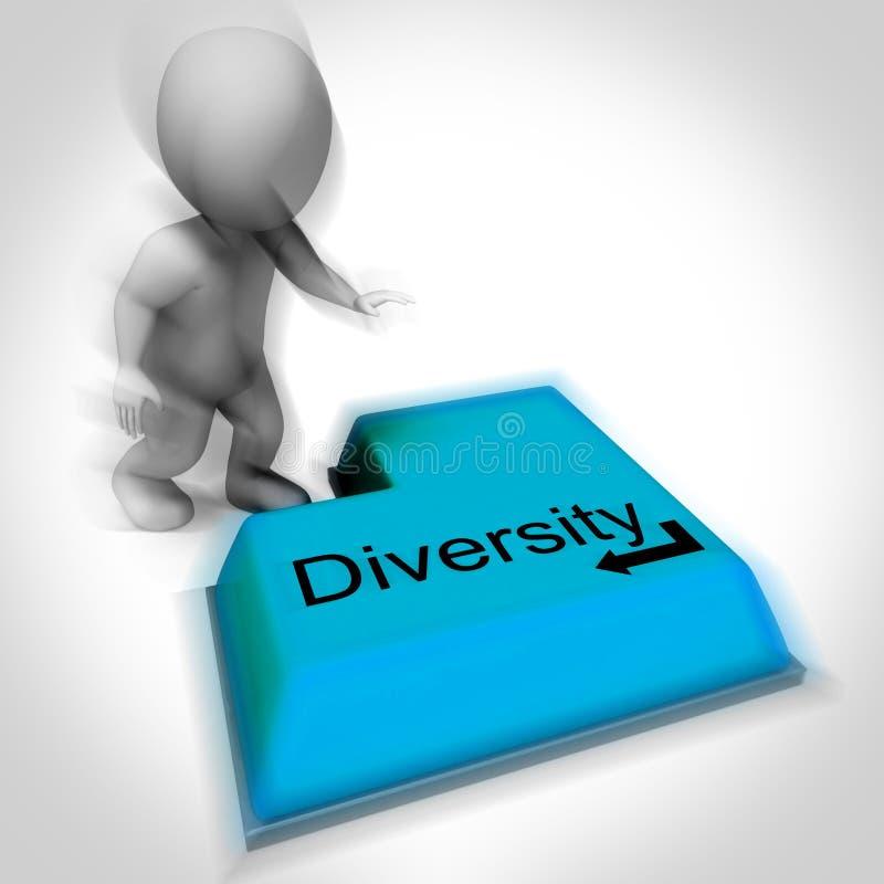 Клавиатура разнообразия значит Мульти-культурные ряд или отклонение иллюстрация вектора