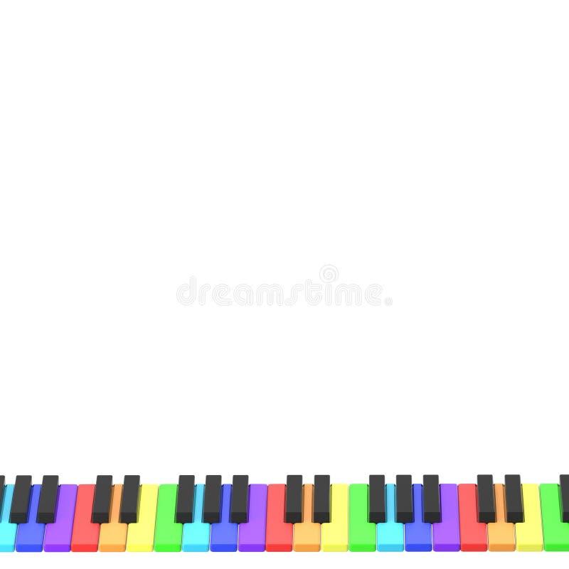 Клавиатура рояля в цветах радуги бесплатная иллюстрация