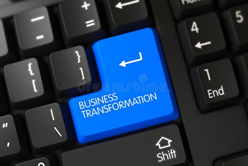 Клавиатура с голубой кнопочной панелью - преобразованием дела 3d иллюстрация вектора