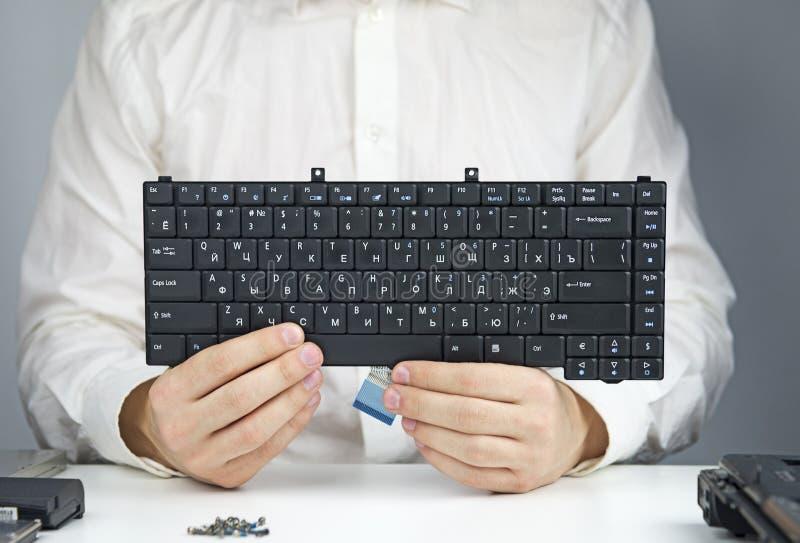 Клавиатура для компьтер-книжки стоковая фотография rf