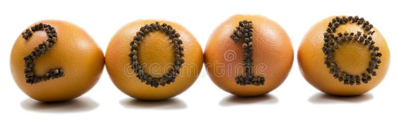 2016 к апельсинам стоковая фотография rf