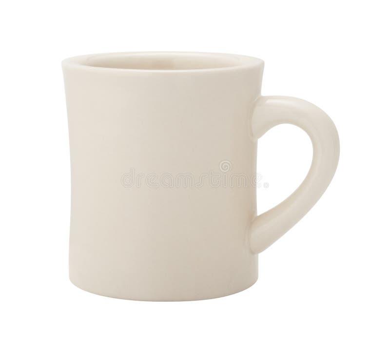 Классическая белая кофейная чашка обедающего стоковые фотографии rf