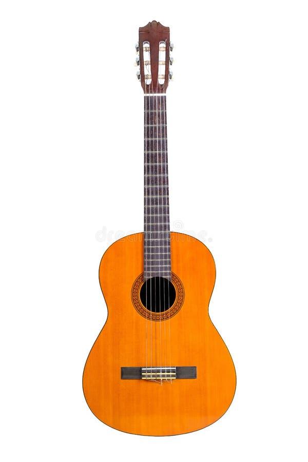 Классическая гитара изолированная на белизне стоковые фото