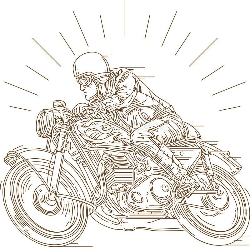 Классическая гонка мотоцикла стоковое фото rf