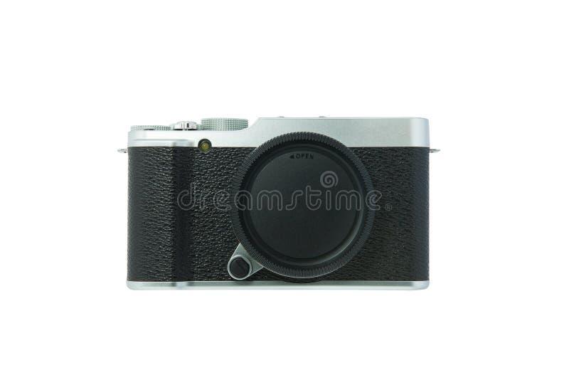 Классическая камера на белой предпосылке стоковое изображение
