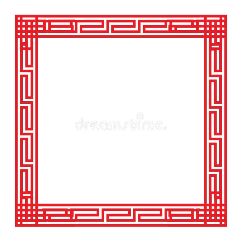 Классическая китайская рамка красной площади бесплатная иллюстрация