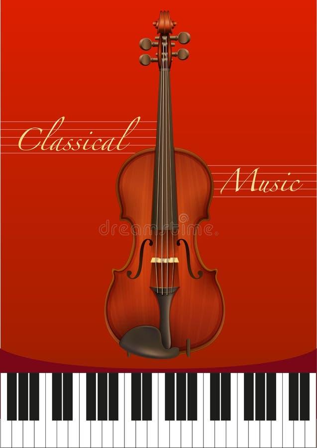 классическая музыка иллюстрация вектора