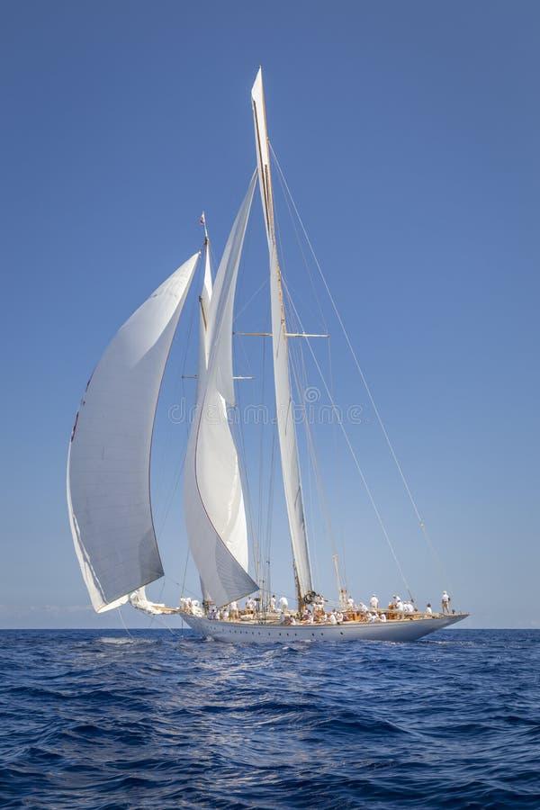 Классическая регата яхты - Shooner ELENA стоковые изображения rf