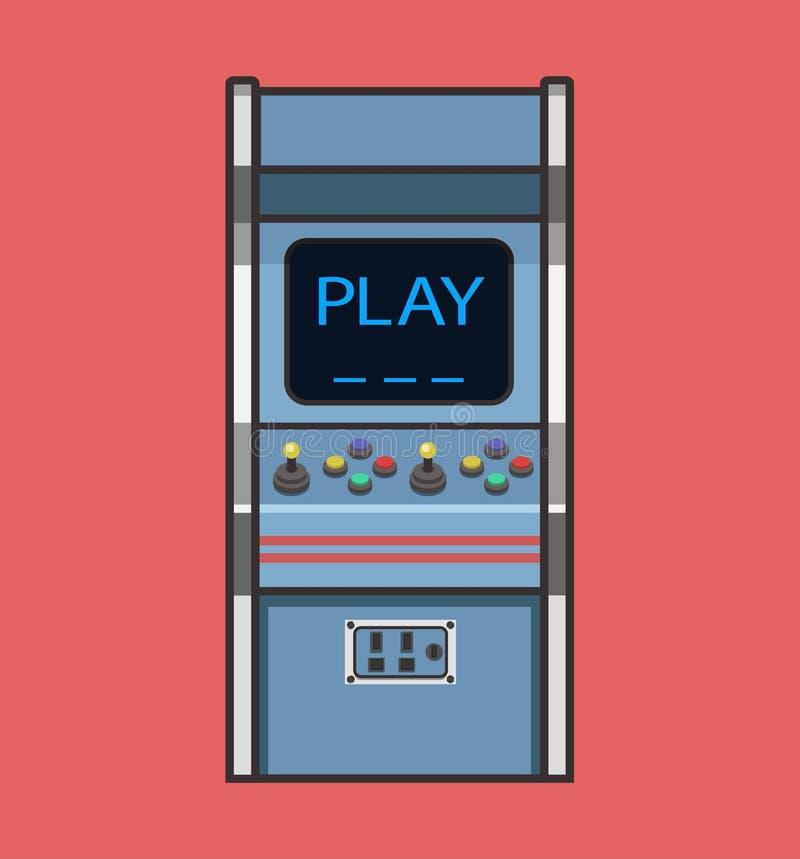 Классическая ретро машина видеоигры иллюстрация штока