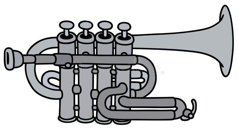 Классическая труба концерта иллюстрация штока