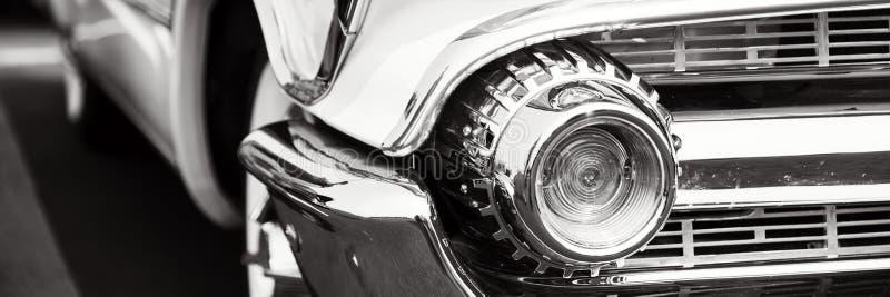 Классические фары автомобиля стоковые фотографии rf