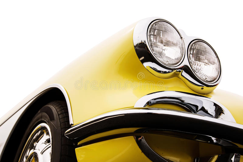 Классические фары автомобиля стоковые изображения