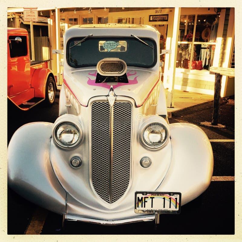 Классический автомобиль в ралли Гаваи стоковое изображение