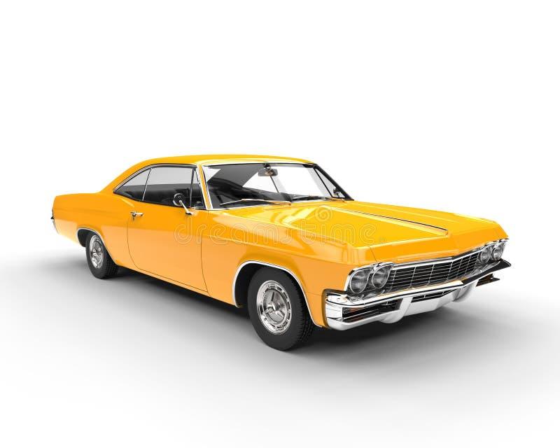 Классический автомобиль желтого цвета мышцы стоковое фото