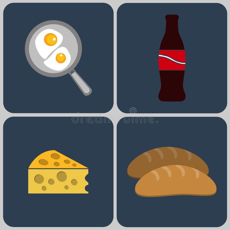 Классический английский завтрак иллюстрация вектора