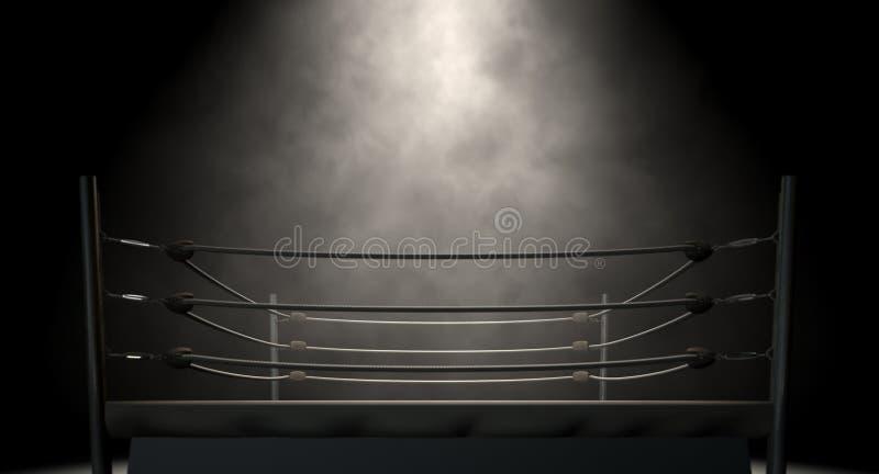 Классический винтажный боксерский ринг стоковые изображения
