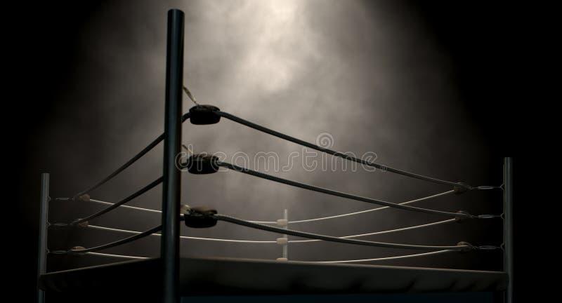 Классический винтажный боксерский ринг стоковые фото