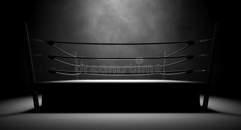 Классический винтажный боксерский ринг стоковая фотография