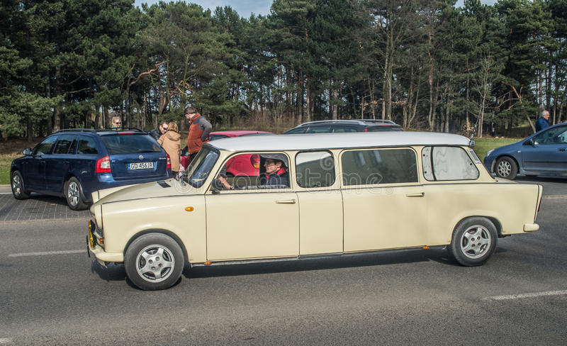 Классический восток - немецкий автомобиль Trabant стоковая фотография
