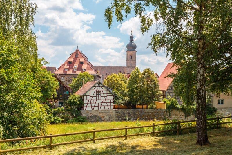 Классический город Forchheim стоковое фото rf