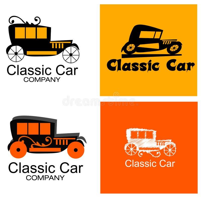 Классический комплект логотипа автомобильной компании иллюстрация вектора